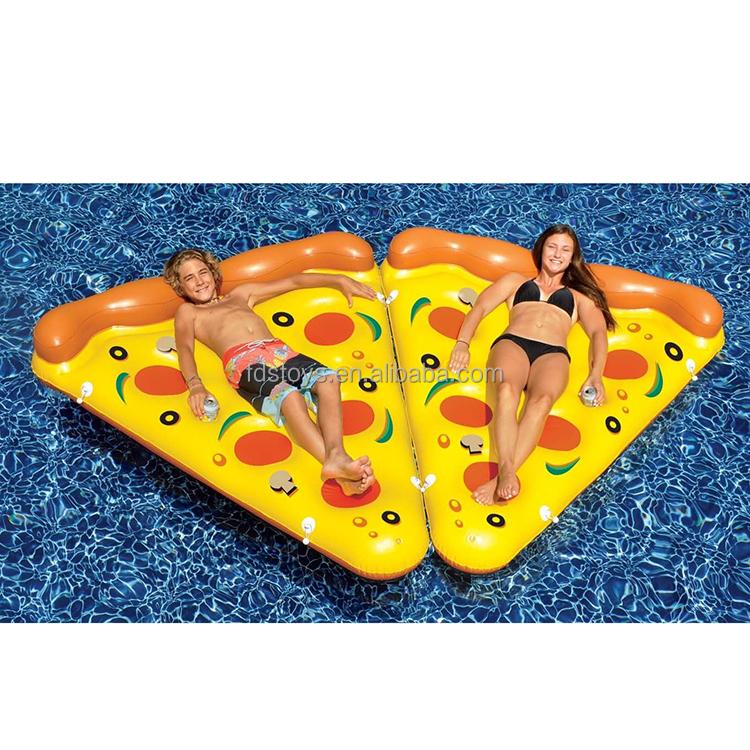 Plastic Inflatable Pizza Slice Float Mattress