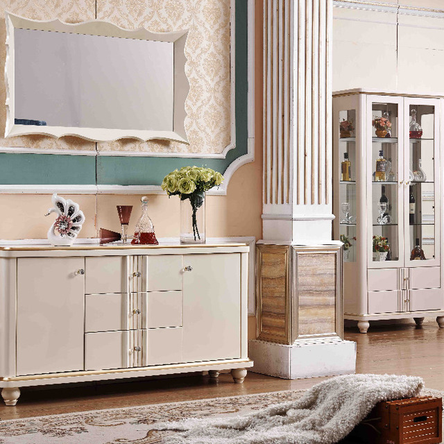 Dining Room Furniture Low Sideboard Buffet Table