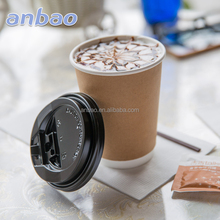 Wholesale disposable custom paper coffee cups and lids