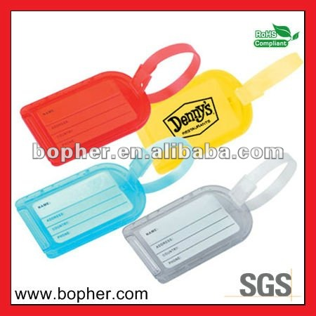 custom creative 3d pvc luggage tag