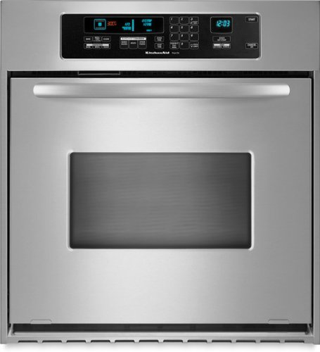 Get Quotations · KitchenAid KEBC147VSS 24in Single Wall Oven   Stainless  Steel