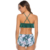 Young Lady Green Printed Frill Mad Two Pieces High Waist Women Swimwear Sexy