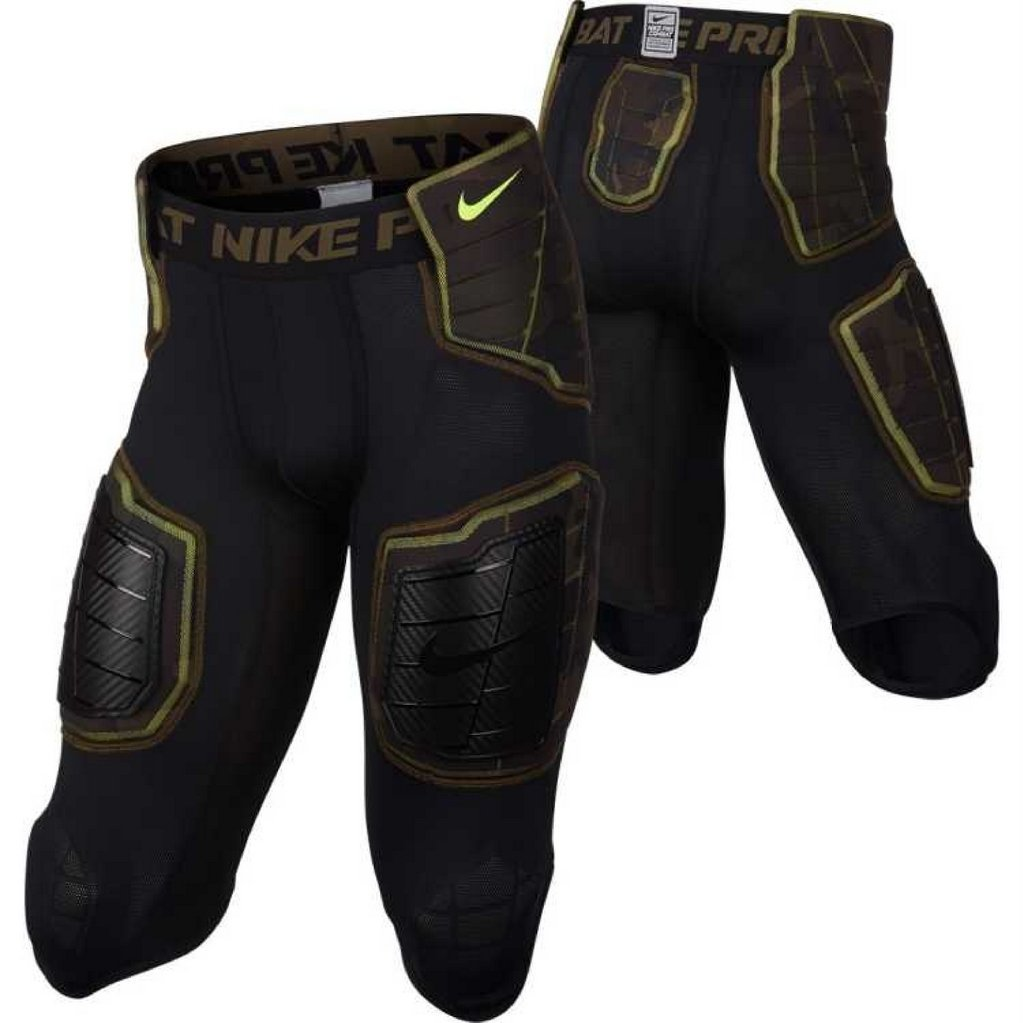 ac771b17975 Get Quotations · Nike Pro Combat 3 4 Hyperstrong Compression Hard Plate  Padded Black Camo 688546-010
