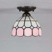 8inch Tiffany Wall lamp in pink color - 8S9-1PC1