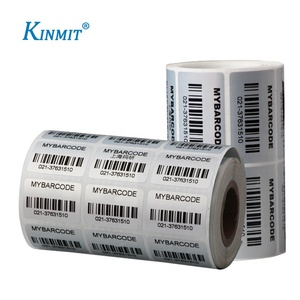 Custom Printed Aluminum Foil PET Sticker Aluminium Foil Barcode Label