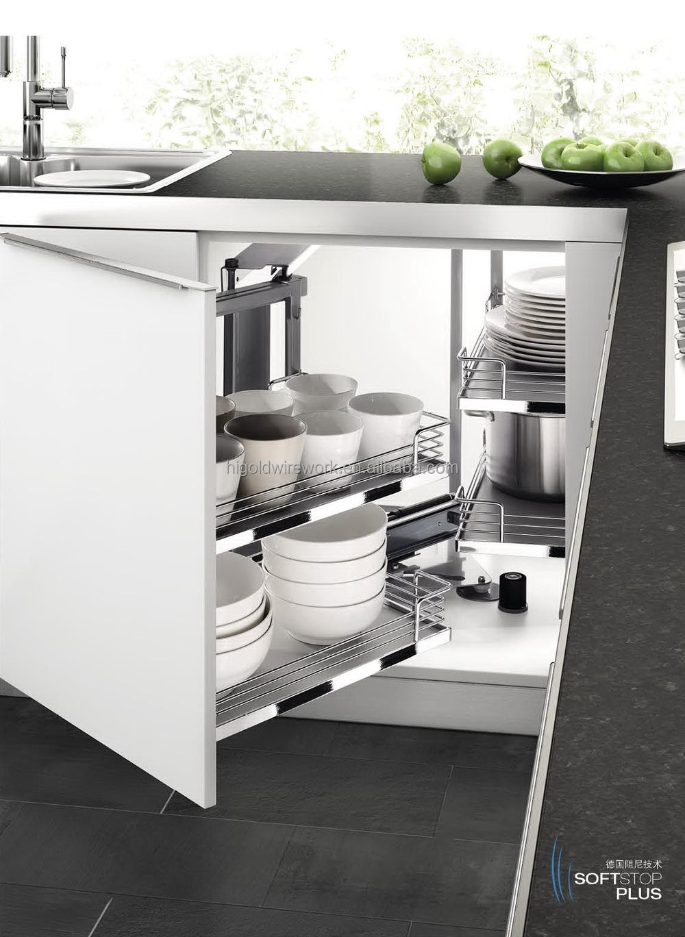 China Supplier Kitchen Cabinet Storage Magic Corner Basket
