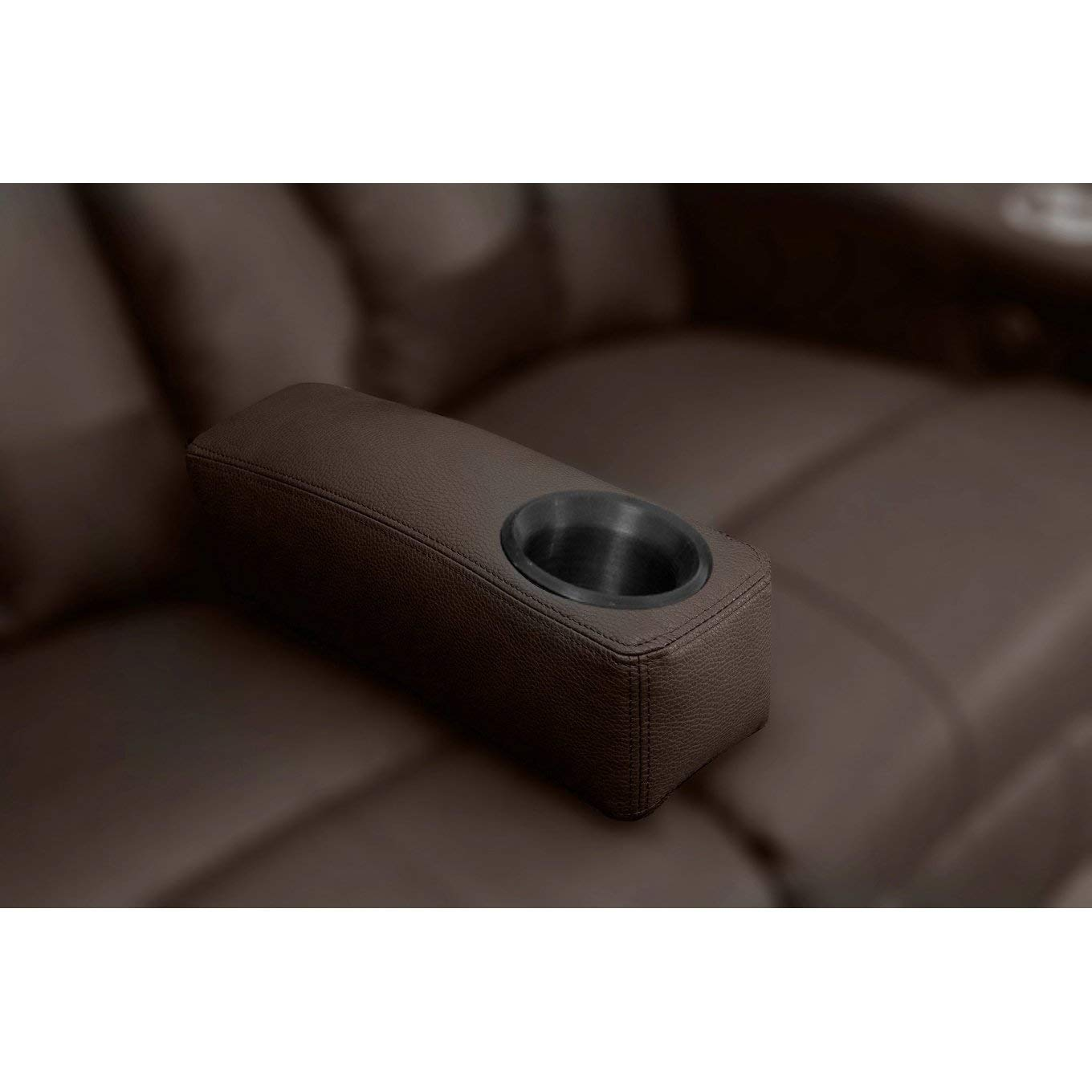 Octane Seating Brown Leather Removable Armrest