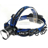 Hot selling on amazon led 10W aluminum zoom headlamp for camping walking fishing t6 rechargeable headlight
