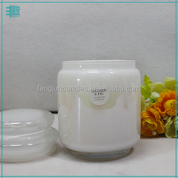 FJ M orange color glass light candle parafin wax for candle making church flameless candle