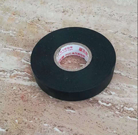 black rubber adhesive flame retardant pvc electrical insulation tape jumbo roll