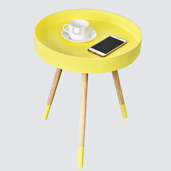 Colorful Round Wooden Tray Coffee Table With 3 Legs Product On Alibaba