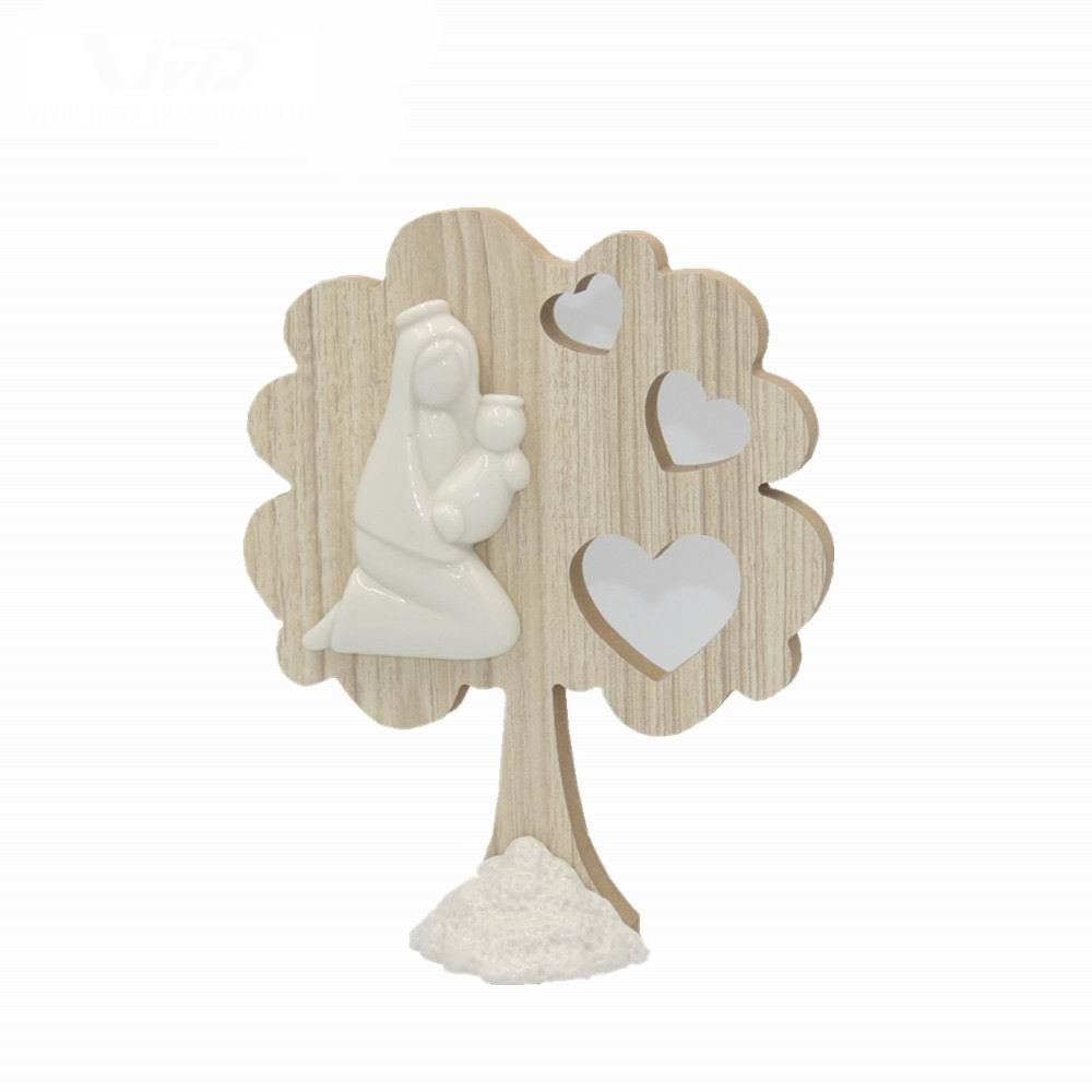 Hot selling Custom polyresin Religie cijfers home Decoratie porselein MDF familie in boom levendige geschenken