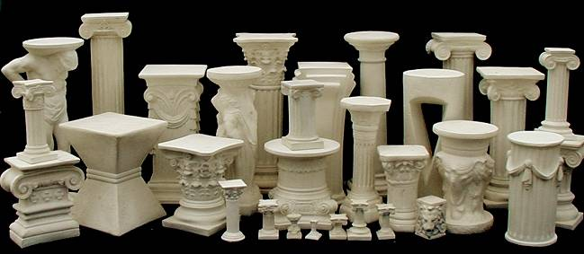 Unique Artificial Sandstone Roman Pedestal For Sales