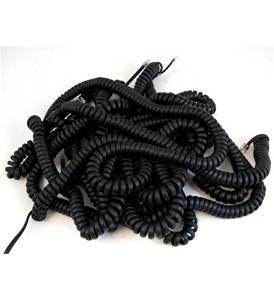 NEC 1091033 25ft. Handset Cords - Black, 5PK