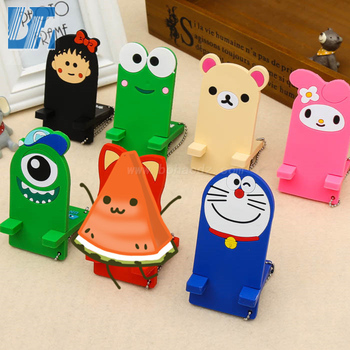 PVC Cartoon Phone Socket Holder Phone Stand Holder