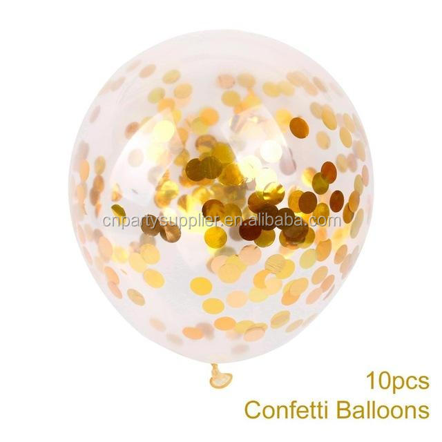 "12"" Transparent Confetti Balloons for Party Decorations"