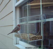 New arrival pet plexiglass clear window acrylic bird / parrot feeder