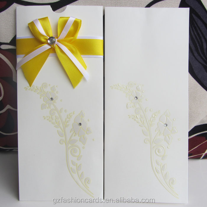 2014 Luxury Butterfly Wedding Invitation Cards Pink Ribbon - Buy ...