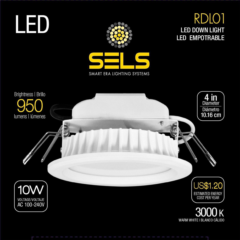 Get Quotations Sels Led Recessed Light Downlight 10 Watts 4 Inch 950 Lumens 75 Watt