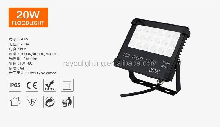 factory direct wholesale ultra slim 10w 20w 30w 50w outdoor led flood light,cheap slim led flood light 200w