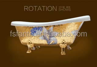 Customised Free-standing indoor Acrylic Bathtub Artificial Bathtub