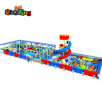Qingfeng indoor inflatable playground equipment Custom naughty castle with children's slide