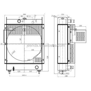 Mitsubishi S3L2 radiator MM436999 for SDMO T11 generator on