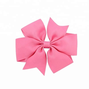 wholesale the boutique grosgrain ribbon headband bow , 3inch hair bow for baby girls ribbon bow
