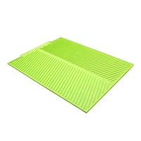 Kitchen use folding counter heat insulation large silicone drying mat for dish