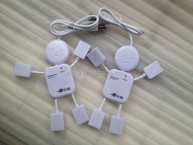 fast charge mini promotional robot 4 usb hub