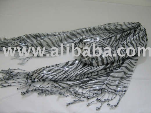 long animal printed silky scarves igm 0780