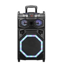 12 Inch Modieuze Waterdicht Party Draagbare Oplaadbare Blue Tooth <span class=keywords><strong>Dj</strong></span> Speaker Trolley Draagbare Speaker Met Bedrade Microfoon