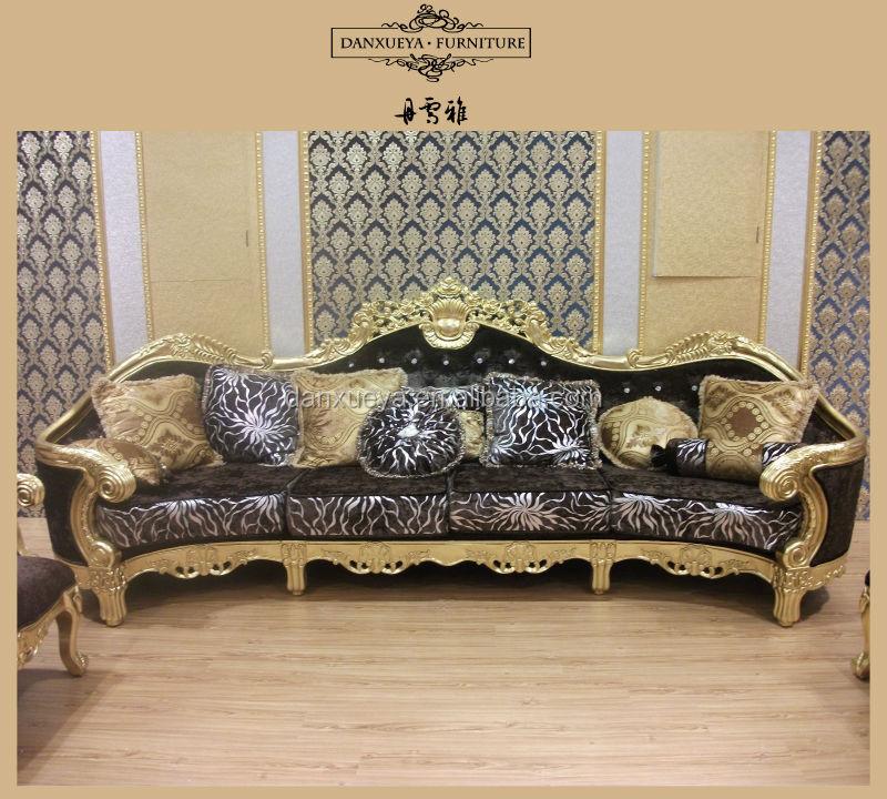 Neoclassical European style wooden carved big sofa set 807#, View wooden  sofa set designs, danxueya Product Details from Foshan Danxueya Furniture  ...