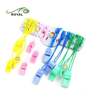 Promotional Plastic Police Whistle Lanyard