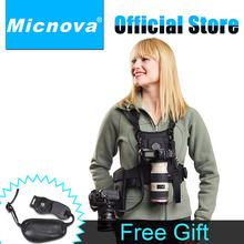 MQ-MSP01 Multifunctional Double Dual Shoulder Quick Release Neck Belt Sling Strap Vest For Two DSLR Camera  SLR DSLR Cameras