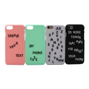 Wholesale new ideas unique phone cover letterboard case for iphone from mold factory