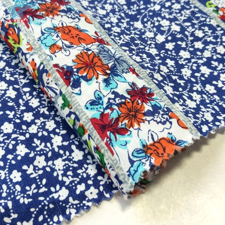 Top french designer authentic pure cotton FABRIC Flower print Price x 1m Poplin