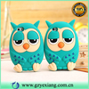Factory Wholesale 3D Owl Cartoon Silicon Phone Case For Iphone 6 Rubber Cover