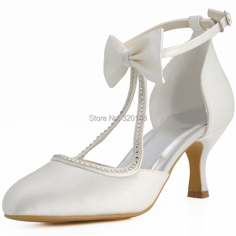 Wedding Shoes With Bows White