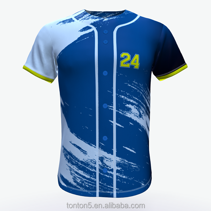 Hot-selling vlakte baseball jersey custom honkbalshirt