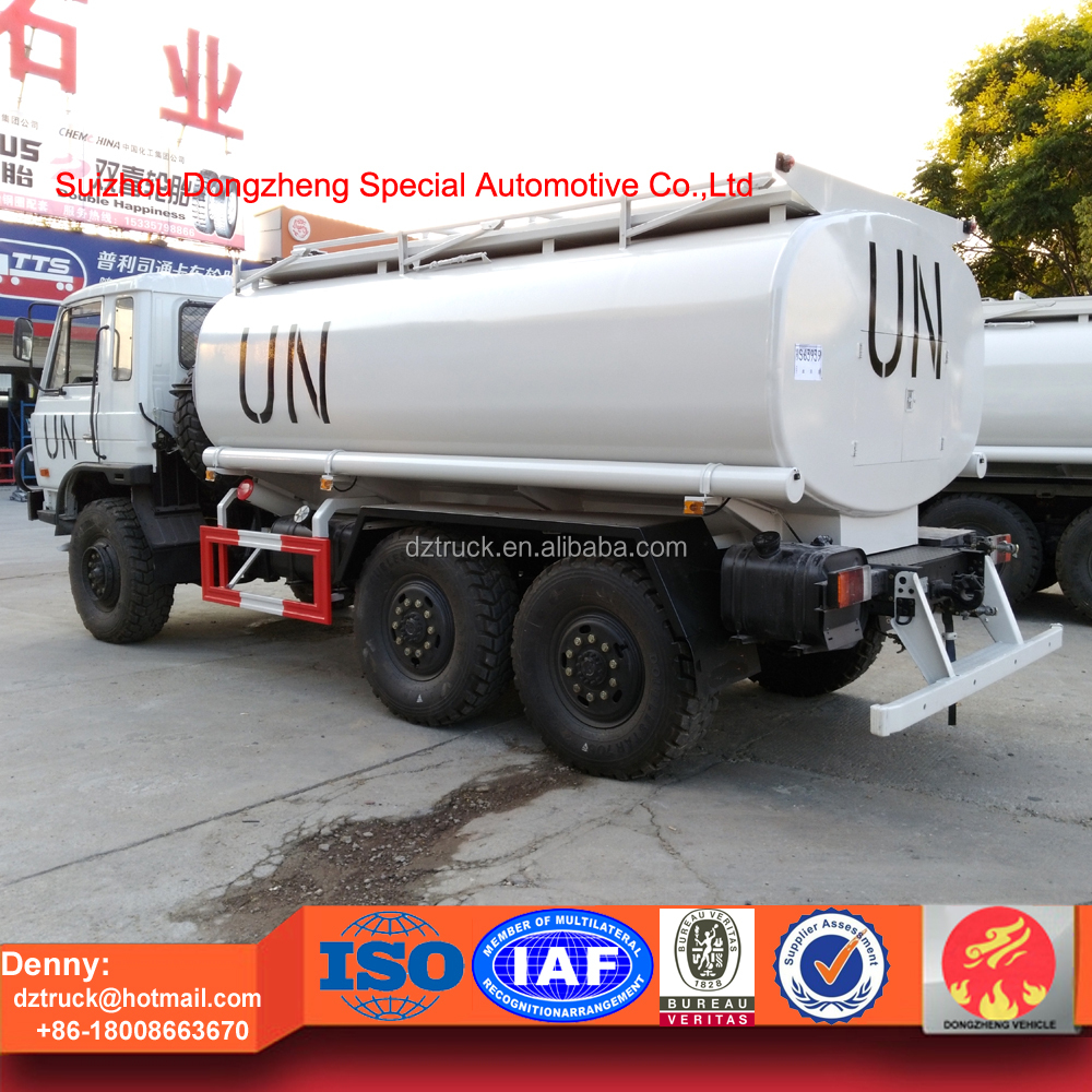 Dongfeng 6x6 white color oil Truck Customizing oil transport truck for UN
