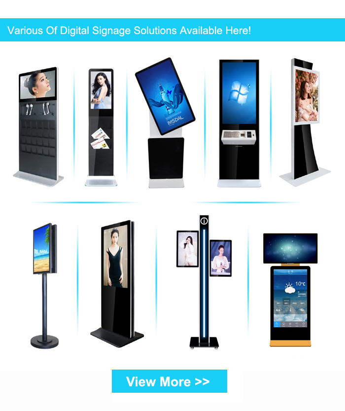 55 Inch Wifi Android Digital Signage Totem Interactive Touch Screen Monitor Floor Stand Kiosk