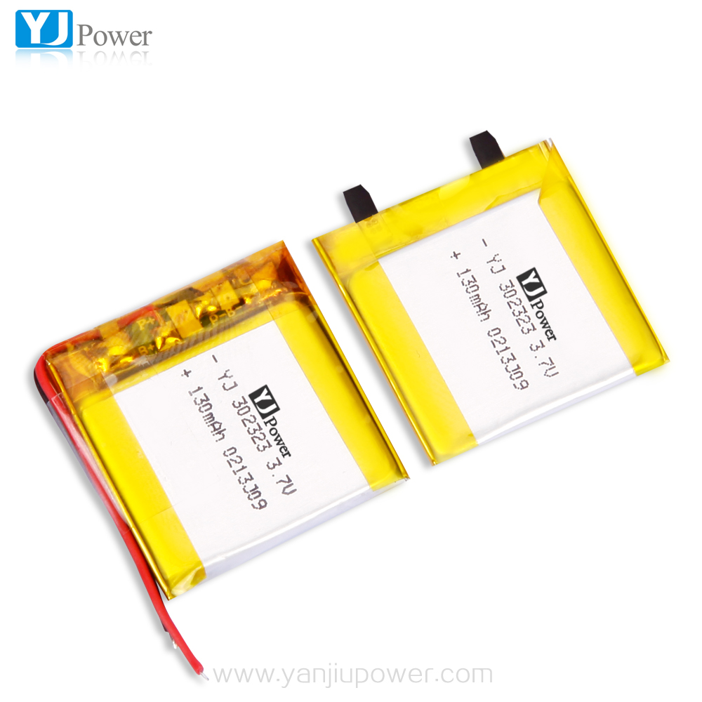 wholesale YJ power 3.7v 302323 130mAh 2p 260mAh rechargeable 7.4v lithium battery 130mah