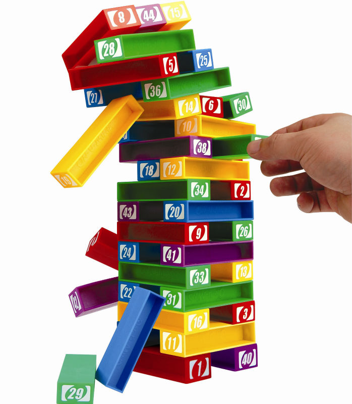 Layer upon layer plastic connecting toys for children