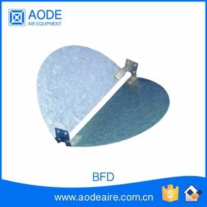 Galvanized Butterfly blade air duct Damper ceiling diffuser for HVAC grille and ductwork, BFD air volume control damper