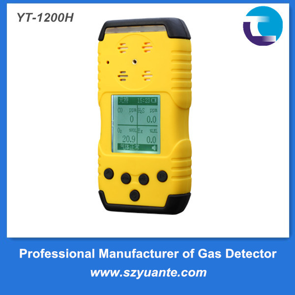 Handheld diffusion type H2S CO O2 LEL compound gas detector