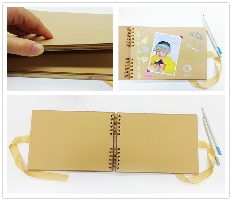 Brown Kraft Paper Scrapbook Photo Album