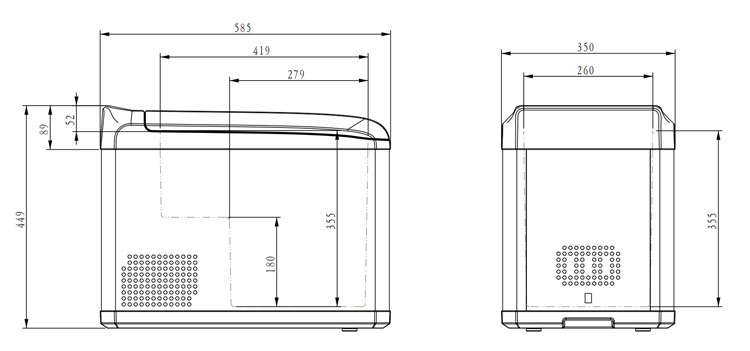 12 v 24 v draagbare kleine koelkast mini camping auto vriezer voor truck