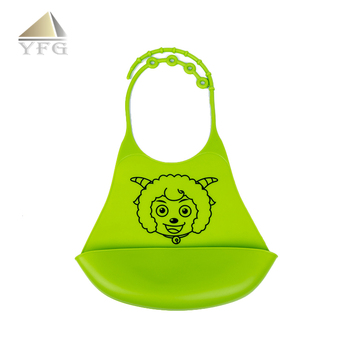 Good deal custom cartoon logo silicone baby bibs