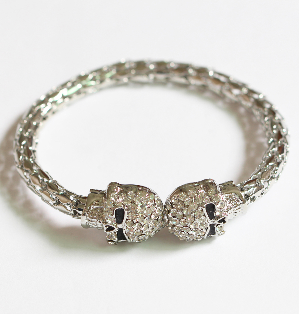 Hot Ing New Design Bracelet Crystal Skull Men Women Fashion Product On